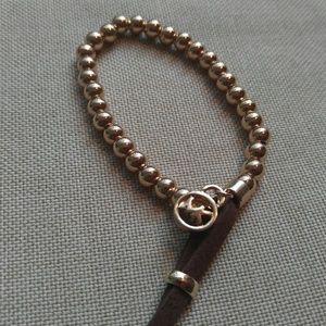 MK Gold Beaded Bracelet